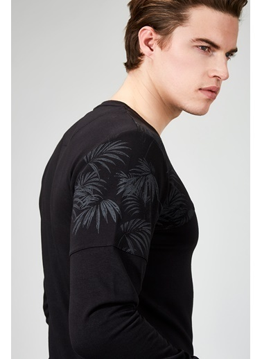 Avva Uzun Kollu Tişört Siyah